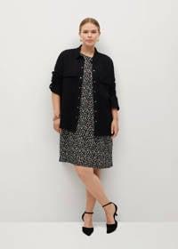 Violeta by Mango blouse zwart, Zwart
