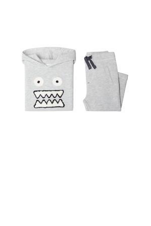 hoodie + sweatpants grijsmelange