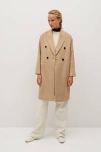 Mango coat met wol bruin, Bruin