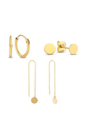 14 karaat gouden oorbellen giftset - IB90017 (set van 3)