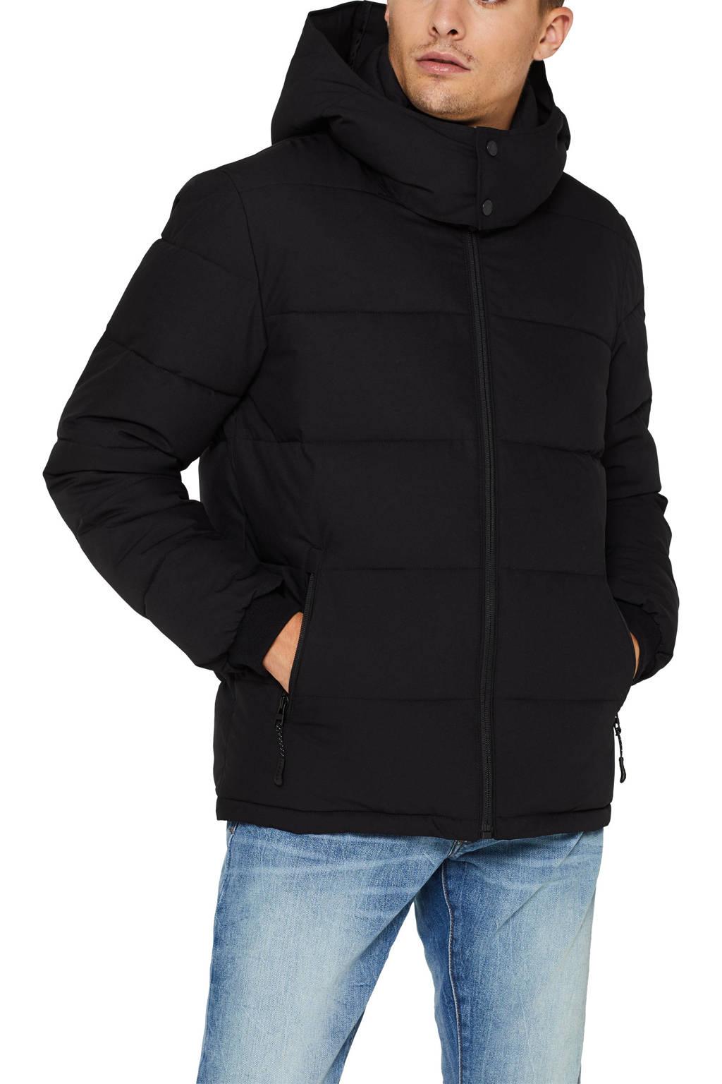 ESPRIT Men Casual jas zwart, Zwart
