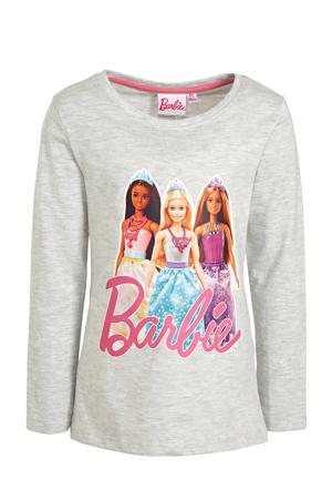 Barbie longsleeve grijs melange