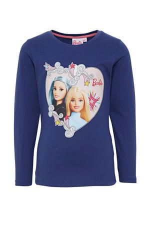 Barbie longsleeve donkerblauw