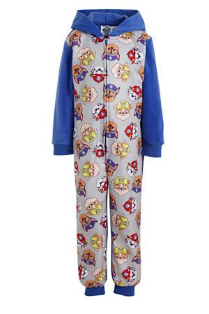 Paw Patrol onesie donkerblauw/grijs melange/geel