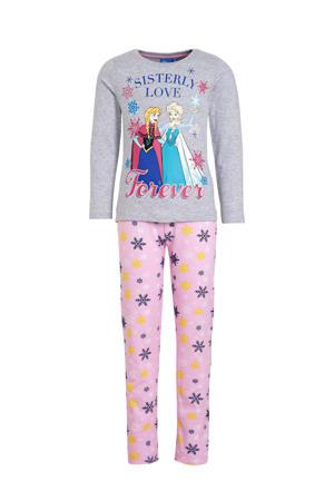 pyjama Frozen grijs melange/roze