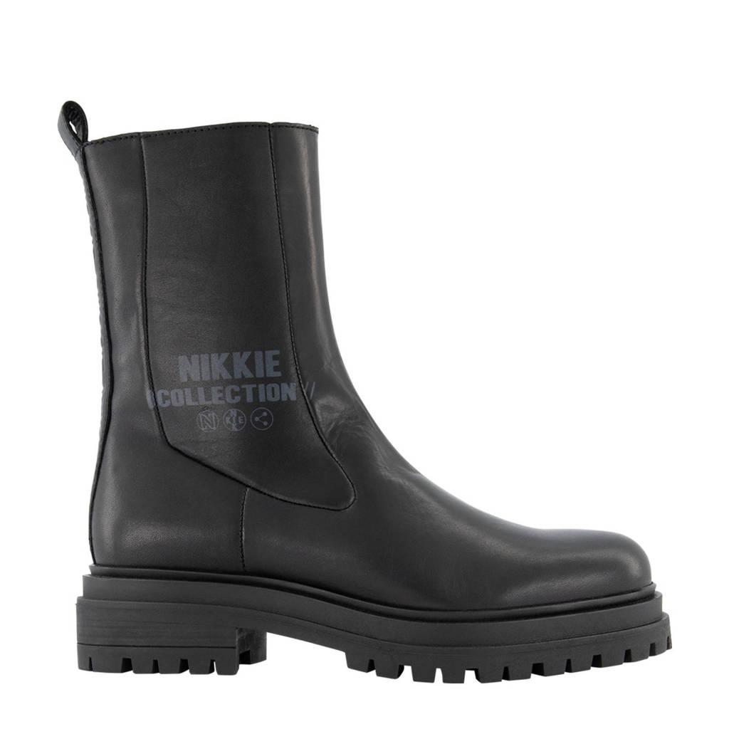 NIKKIE Bailey Boots  hoge leren chelsea boots zwart, Zwart
