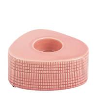 pt, waxinelichthouder Triangle Ceramic, Roze