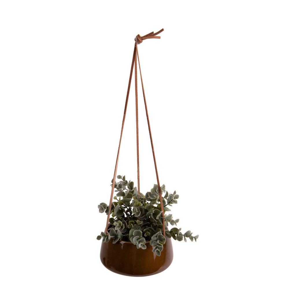 pt, plantenhanger Unique, caramel bruin