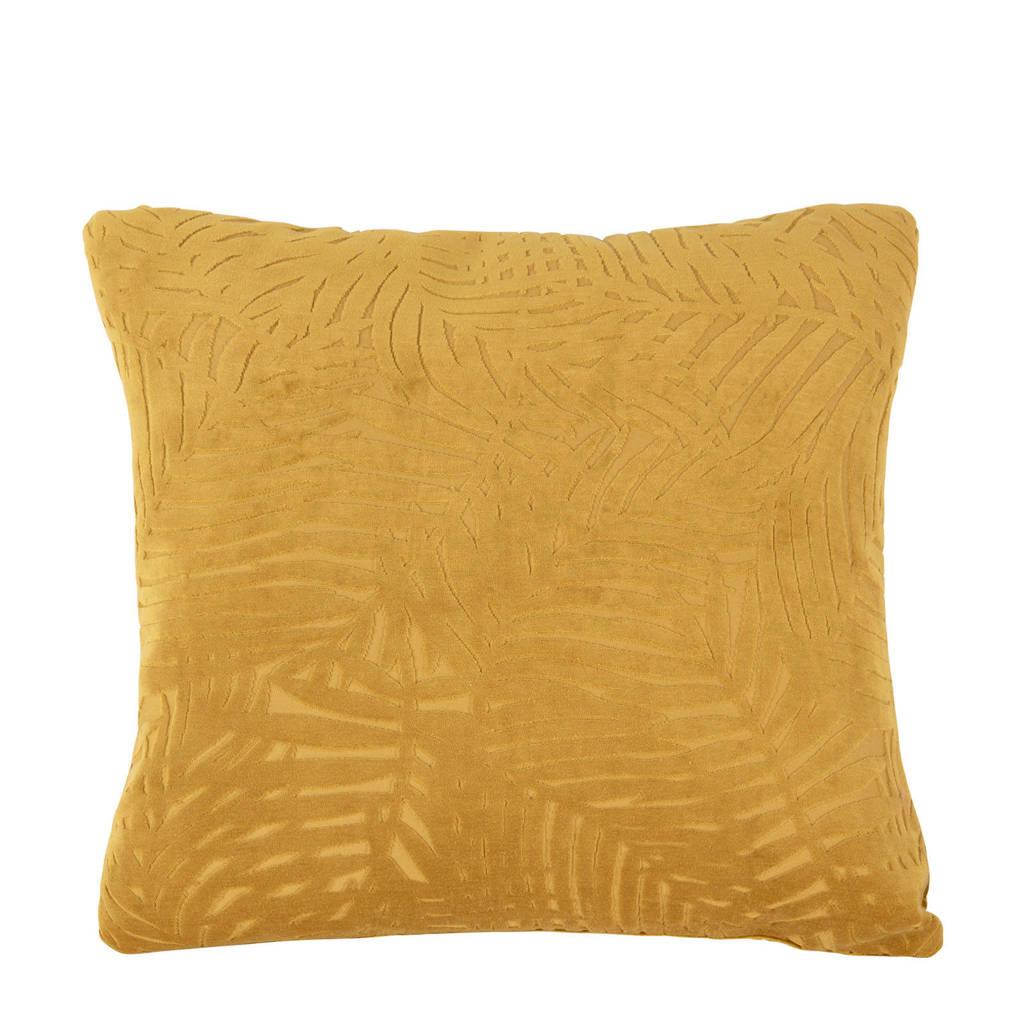 pt, sierkussen Palm Leaves (45x45 cm), caramel bruin