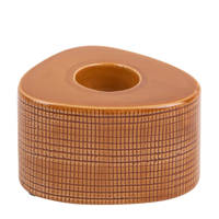 pt, waxinelichthouder Triangle Ceramic, Oranje