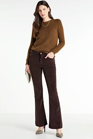gemêleerde trui Birdie met wol bruin