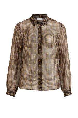 blouse VILULAS met all over print zwart