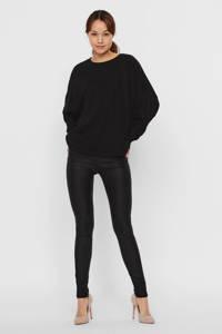 VERO MODA gebreide trui met vleermuismouwen zwart, Zwart