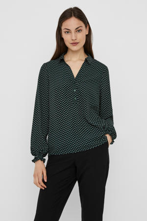 top Boa met all over print groen