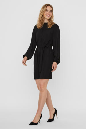 jurk Boa van gerecycled polyester zwart