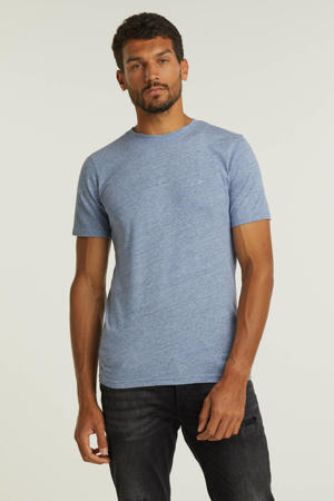 gemêleerd basic T-shirt JJEMELANGE grijsblauw