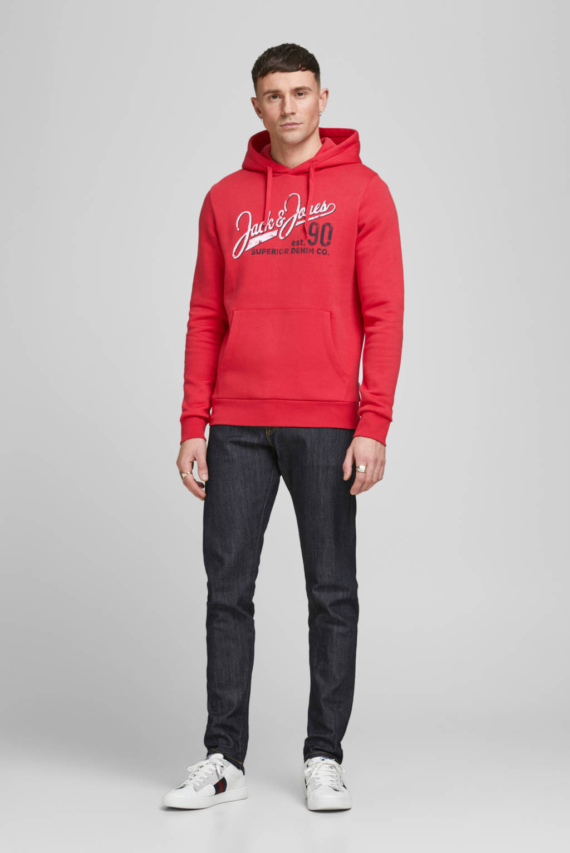 JACK & JONES ESSENTIALS hoodie met logo rood, Rood