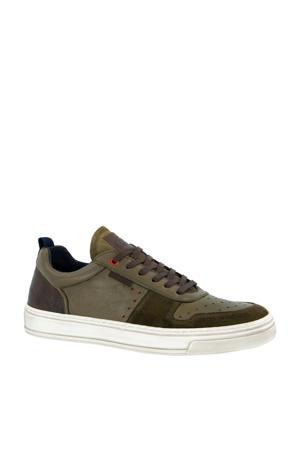 leren sneakers groen