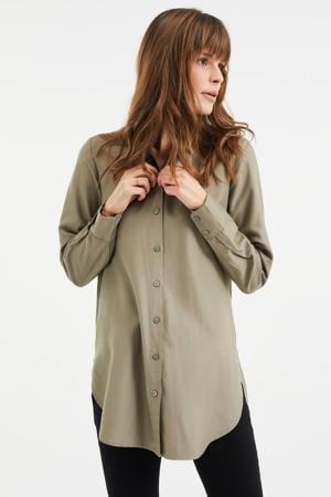 blouse dark sage