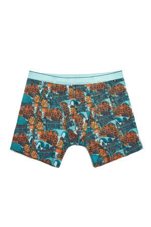 boxershort oranje/blauw
