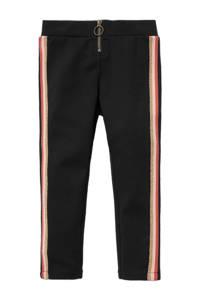 C&A slim fit broek met zijstreep zwart, Zwart