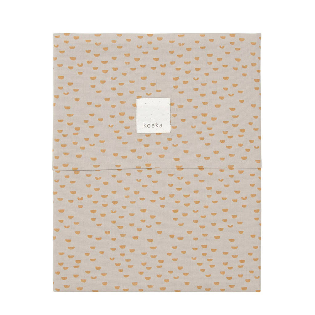 Koeka baby ledikantlaken Malin 110x140 cm misty grey, Lichtgrijs