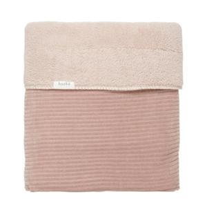 baby ledikantdeken teddy Vik 100x150cm grey pink