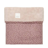 Koeka baby ledikantdeken teddy Malin 100x150 cm plum/grey pink, Paars/roze