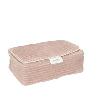 babydoekjes box Vik 12x20 cm oudroze