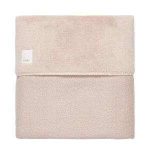 baby wiegdeken teddy Riga 75x100 cm grey pink