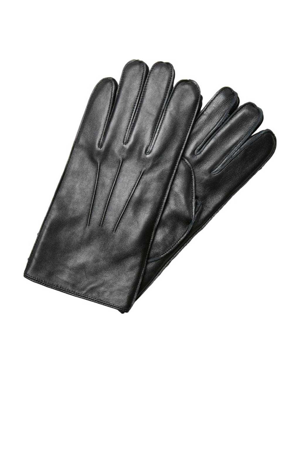SELECTED HOMME leren handschoenen zwart, Zwart