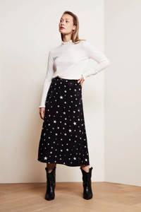 Fabienne Chapot rok Hall Coco met sterren zwart/wit, Zwart/wit