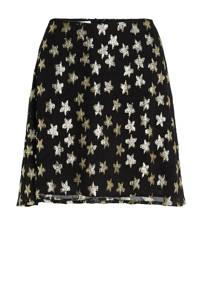 Fabienne Chapot semi-transparante A-lijn rok Lot met sterren zwart, Zwart