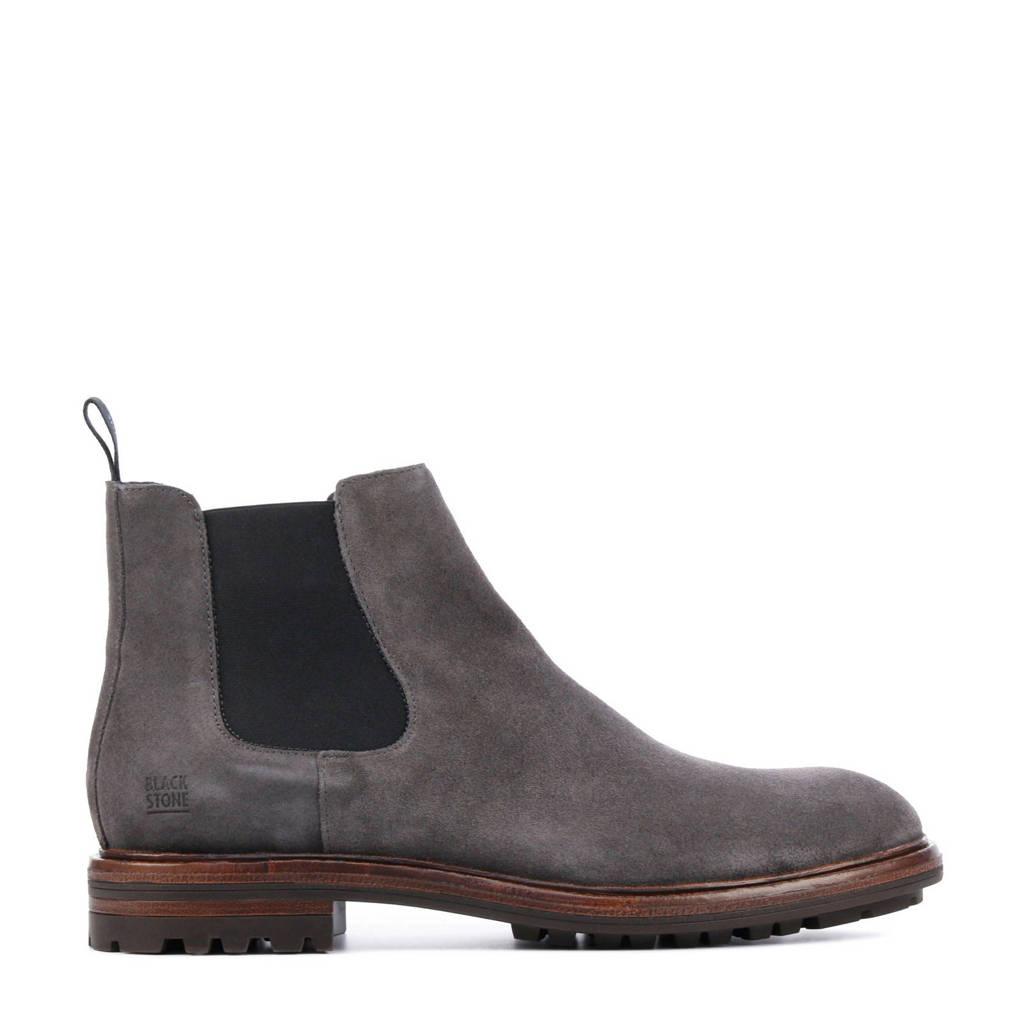 Blackstone UG23  suède chelsea boots antraciet, Antraciet/grijs