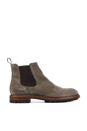 UG23  suède chelsea boots taupe