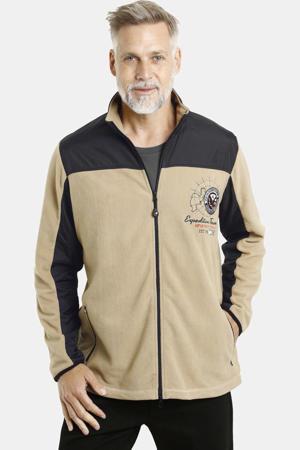 vest Plus Size Tobyn beige/zwart