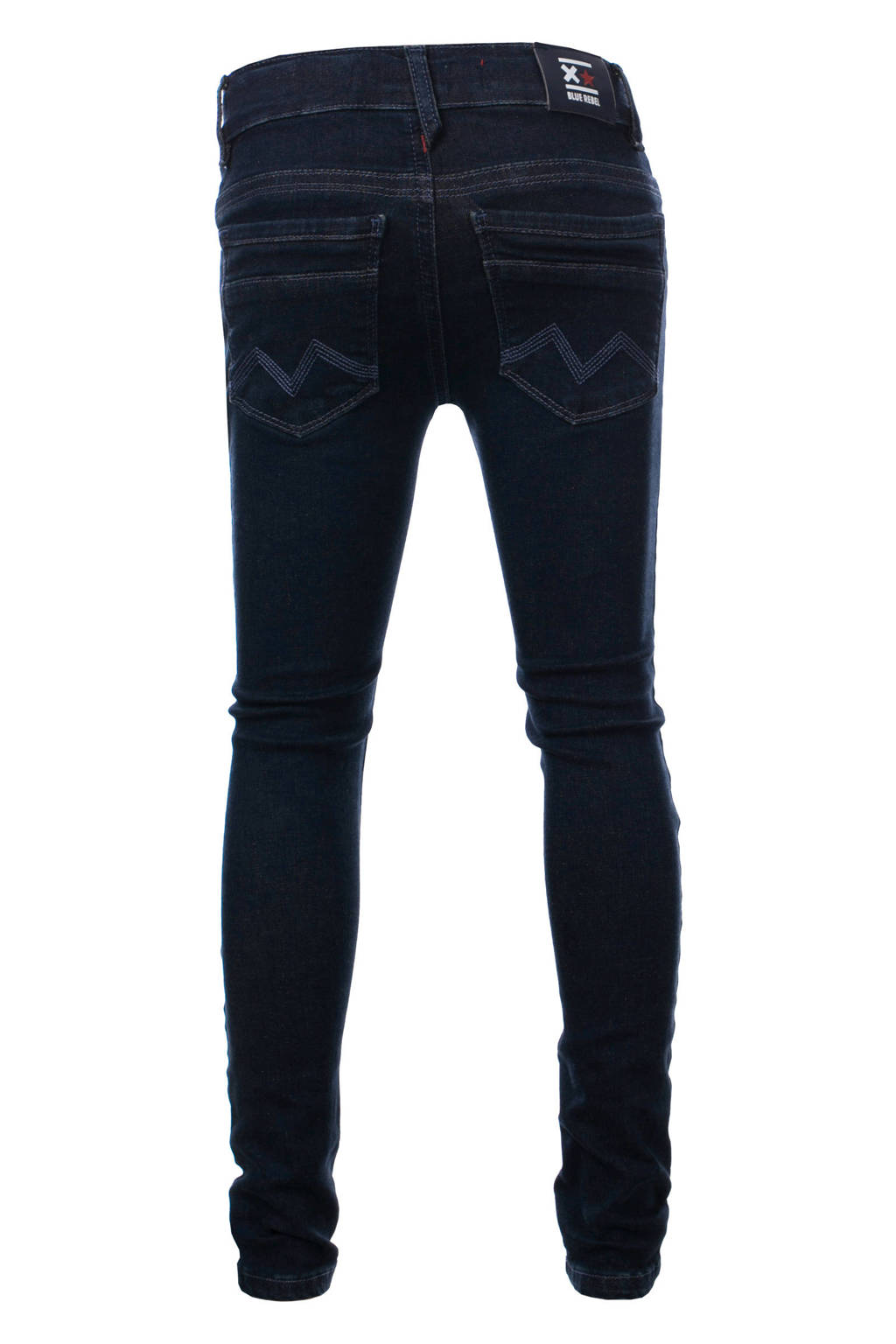 Blue Rebel skinny jeans donkerblauw, Donkerblauw
