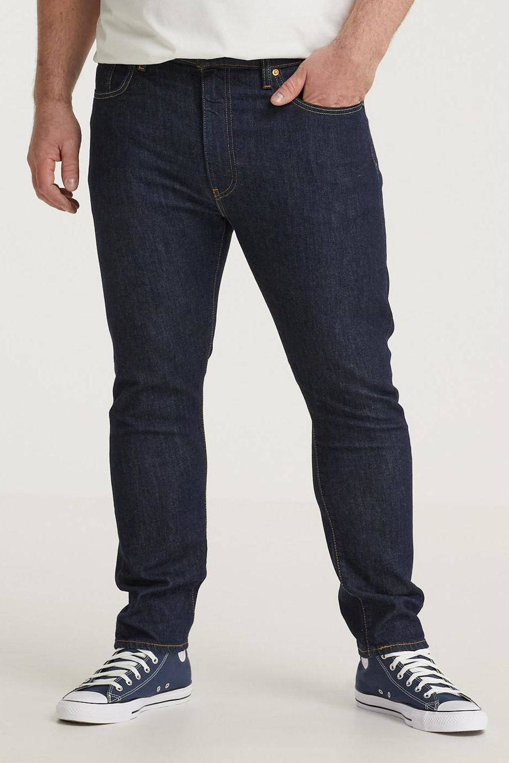 Levi's Big and Tall tapered fit jeans 512 Plus Size donkerblauw, Donkerblauw