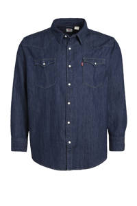 Levi's Big and Tall regular fit overhemd Big Barstow Western Plus Size dark denim, Dark denim