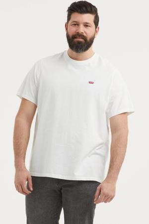 T-shirt met logo Plus Size wit