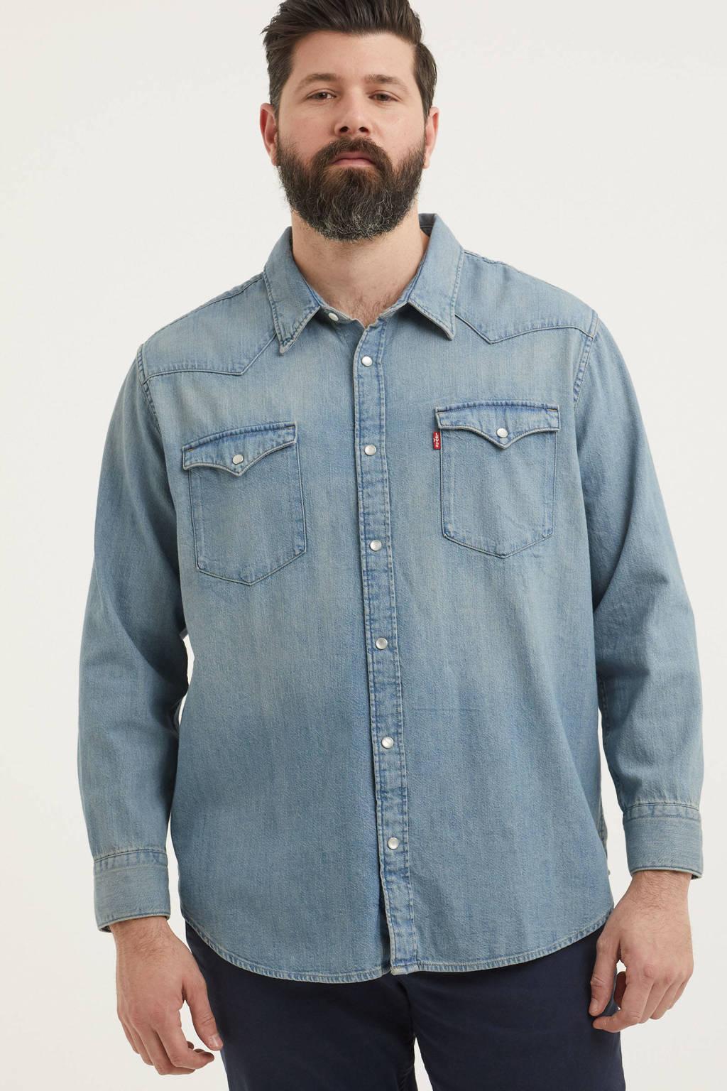 Levi's Big and Tall regular fit overhemd Big Barstow Western Plus Size light denim, Light denim