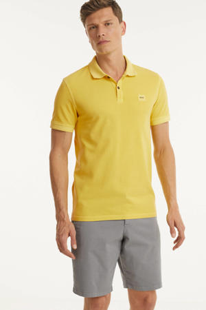 slim fit polo geel