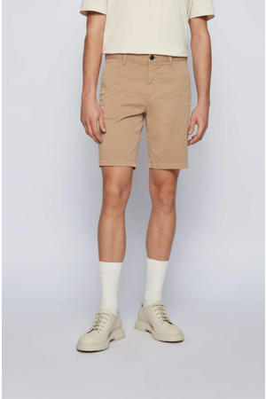 slim fit chino short beige