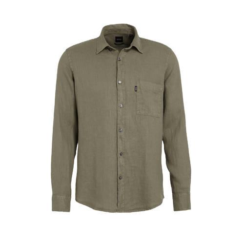 BOSS Casual regular fit overhemd Relegant kaki
