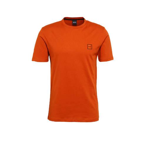 BOSS Casual T-shirt Tales oranje