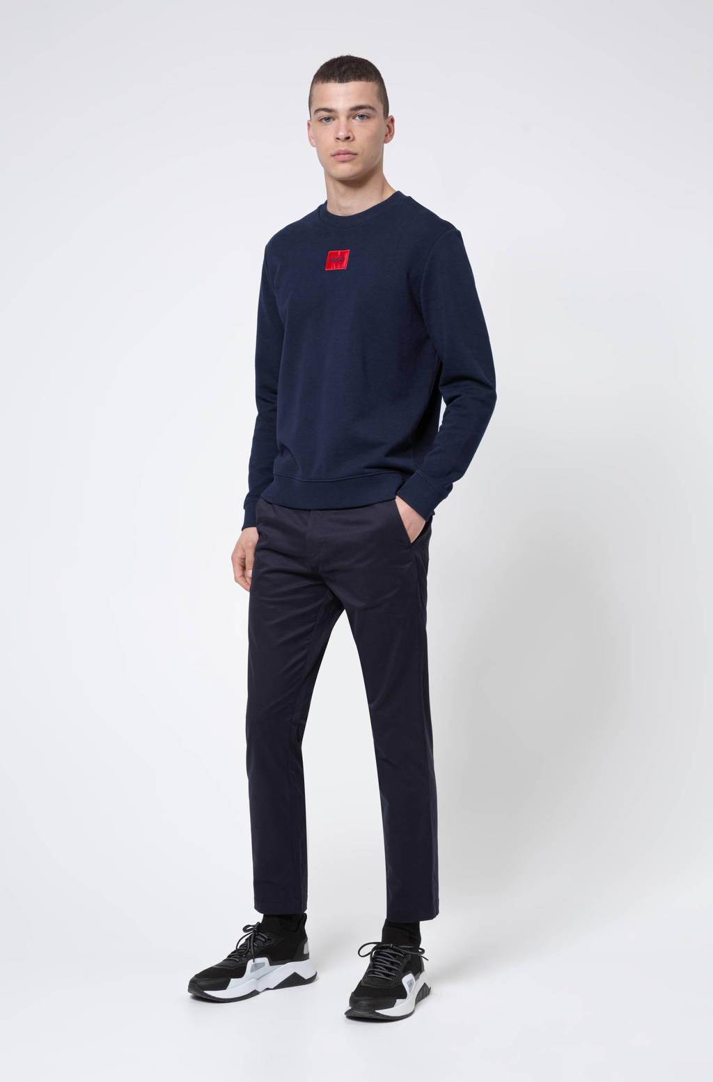 HUGO sweater met logo donkerblauw, Donkerblauw
