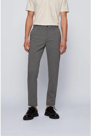 gemêleerde tapered fit chino donkergrijs