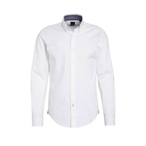 BOSS Menswear slim fit overhemd Rod wit