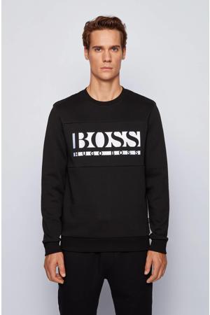 sweater Salbo met logo zwart