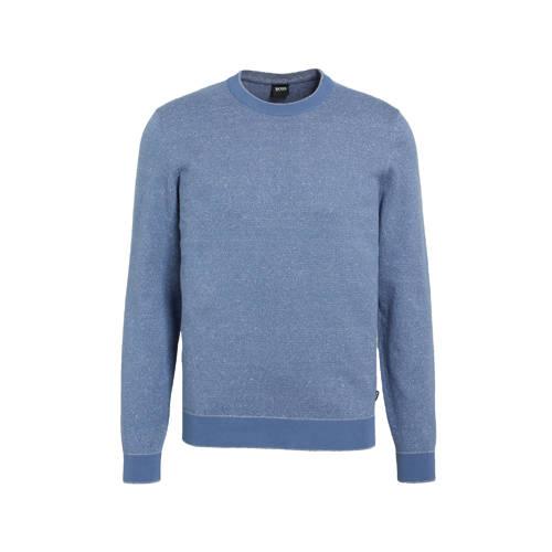 BOSS Menswear fijngebreide trui blauw